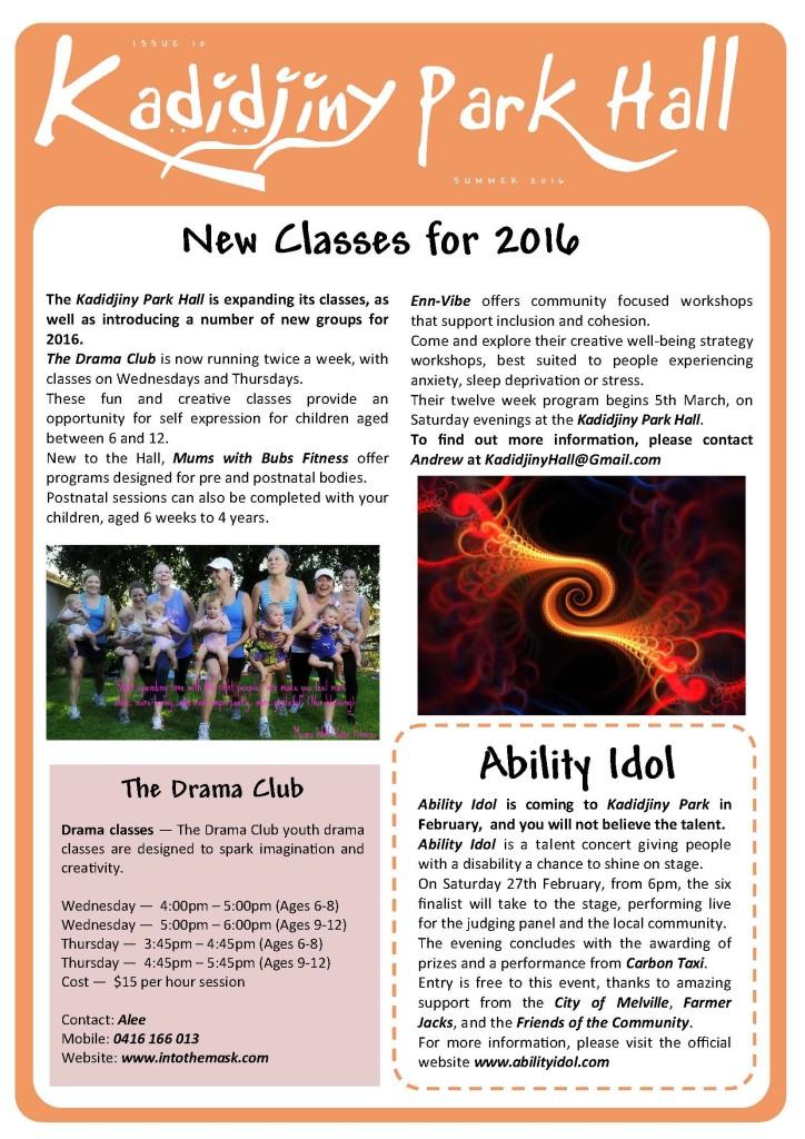 Kadidjiny Newsletters Summer 2016